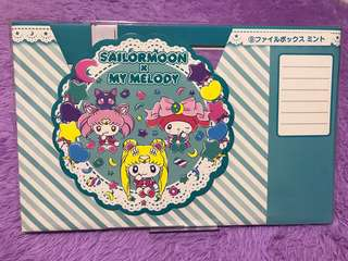 ‼️SALES (Exclusive from Japan) Brand new Sailor moon x My Melody File cardboard holder
