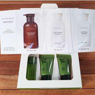 Innisfree Green Tea Moisture Kit (untuk kulit kering) + My Hair Recipe Kit