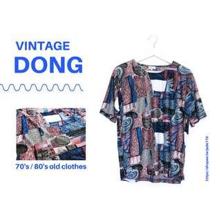 🚚   咚 咚 Vintage  日本古著-京都的異次元旅行短袖上衣