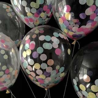 Transparent Confetti Party Balloons