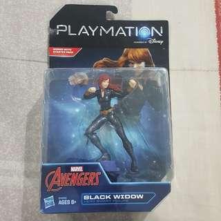 "Legit Brand New With Box Disney Hasbro Playmation Marvel Avengers Black Widow 4.5"" Toy Figure"