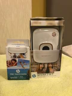 HP Sprocket 2-in-1 with photo paper