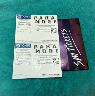 Paramore Lowerbox A (2 Tickets)