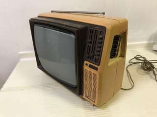 1979 Philips Antique TV - Made in Singapore!