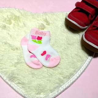 Baby pink socks for 0-12 months