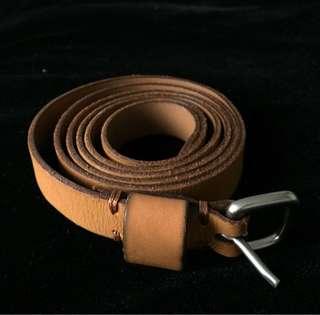 UNIQLO Slim Textured Leather Belt