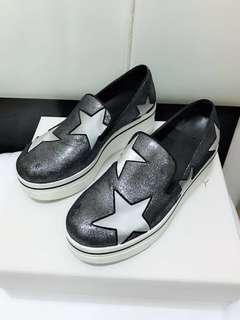 stella 銀灰色懶人星星鞋