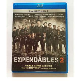 The Expendables 2 Blu Ray + DVD