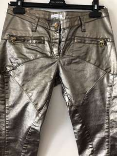 Faith Connexion Metallic Moto Jeans Size 28