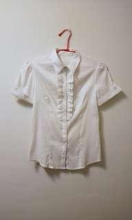 🚚 荷葉短袖襯衫 #女裝半價拉