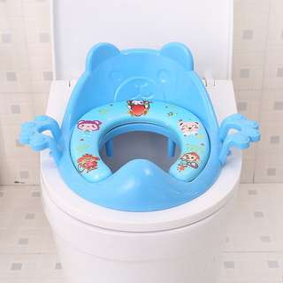 [NEW] Kids Toilet Seat with Arm Rest FOC Cleaning Brush