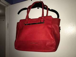 Guess red hand bag