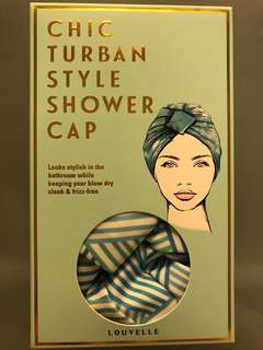 Amelie panelled style turban shower cap