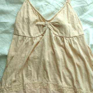 American Eagle pink tank size small