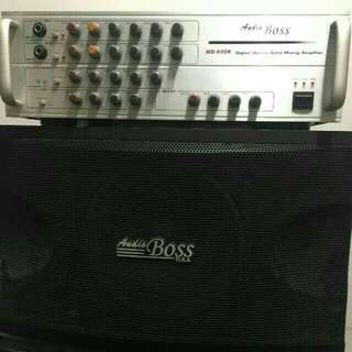 2 boss usa specker and boss amplifier good condition good surround