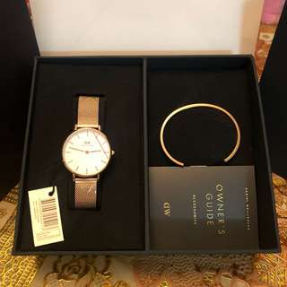 AUTHENTIC DW WATCH PETITE EDITION SET