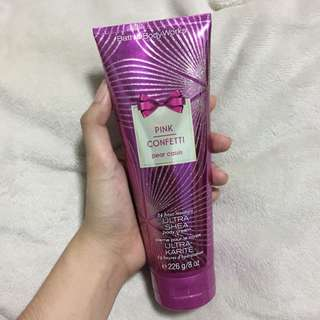 Bath and Body Works Pink Confetti body lotion