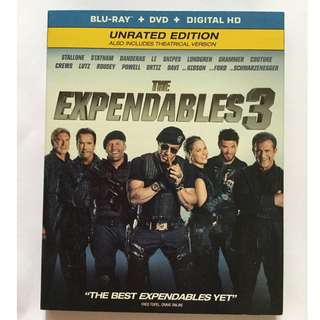 The Expendables 3 Blu Ray + DVD