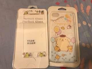 Iphone 7 布甸狗 手機軟殼 鋼化膜