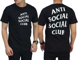 Anti Social Big Logo Black Tee