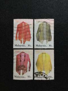 2002 Malaysia's Fashion Heritage 4V Used Set
