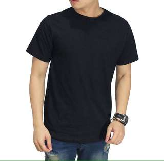 Black Basic O-Neck Tee