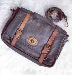 Fossil messanger bags grey