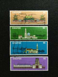 1978 Singapore National Monuments 4 Values Used Set