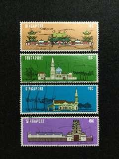 1978 Singapore National Monuments 4 Values Used Set