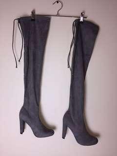 Bardot Thigh High Boots