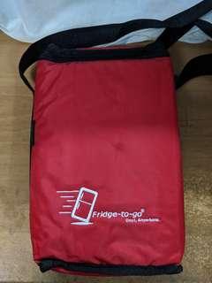 [野餐必備]全新Fridge To Go 斜孭冷藏袋(紅色/藍色)