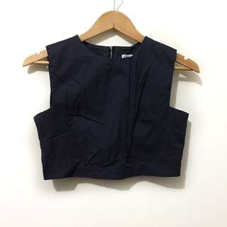 Deep gray cropped top