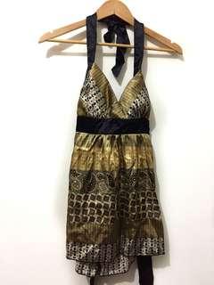 (New) Silk halter top