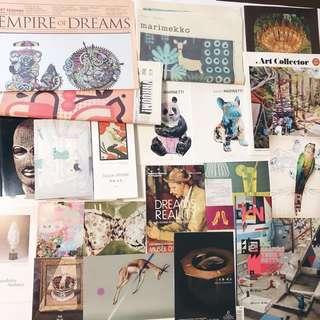 Visual Art Books, Magazines, Newsletters, Art Cards, Postcards