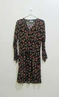 Promod Black Floral Dress