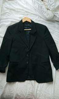 Perry Ellis black blazer size 2/4