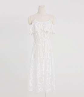 🚚 Lovfee 蕾絲袖肩帶洋裝(尺寸L)