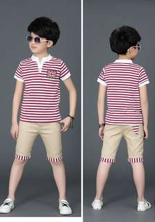 Fashion kids shirt+ pants sets