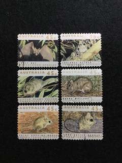 1992 Australia Threatened Species 6 Values Used Set