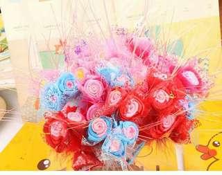 Teacher day gift  3 rose Flower Bouquet pen
