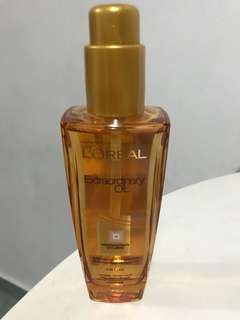 Loreal extraordinary oil 6 precious extracts of flowers sublime hair enhancer 3 in 1 use normal or dry hair l'oreal extraordinary hair oil
