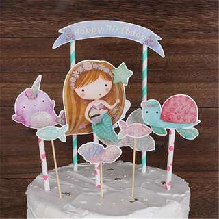 Under the sea Little Mermaid party supplies - DIY Cake Deco / cake toppers / party deco
