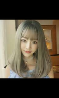 Preorder korean pear head middle length wig * waiting time 15 days after payment is made * chat to buy to order