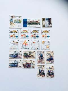 19 Old S'pore Stamps