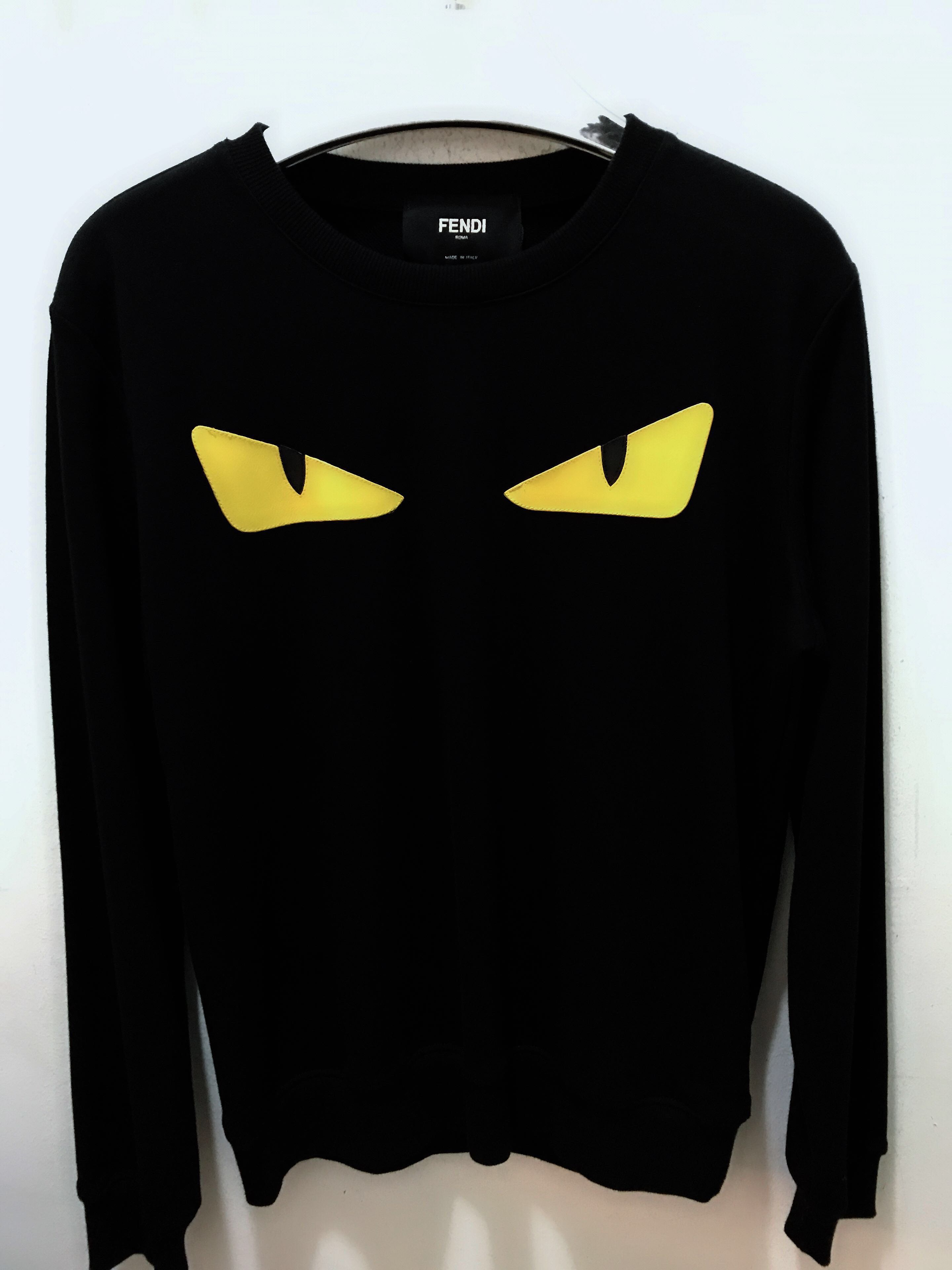 3ff2261f6e21 🆕 Authentic FENDI Monster Eyes Long Sleeve Tee, Men's Fashion, Clothes on  Carousell