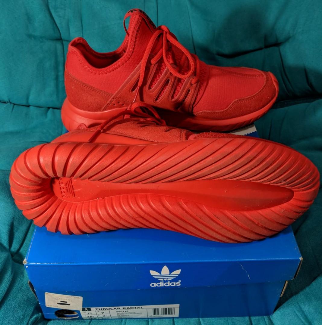 sale retailer 8ae8b a658f Adidas Tubular Radial Triple Red