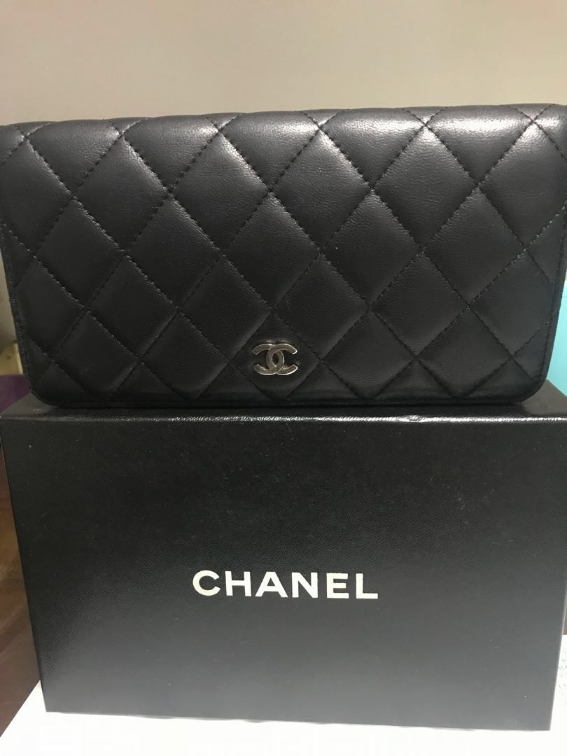 22e76d97307837 Authentic Chanel Bi Fold Porte Yen Wallet, Luxury, Bags & Wallets ...