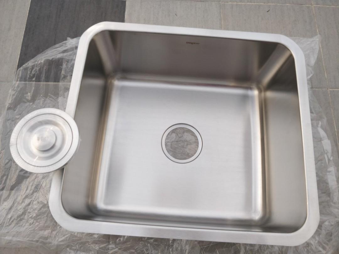 Bellano Undermount Stainless Steel Kitchen Sink Peralatan Dapur Di