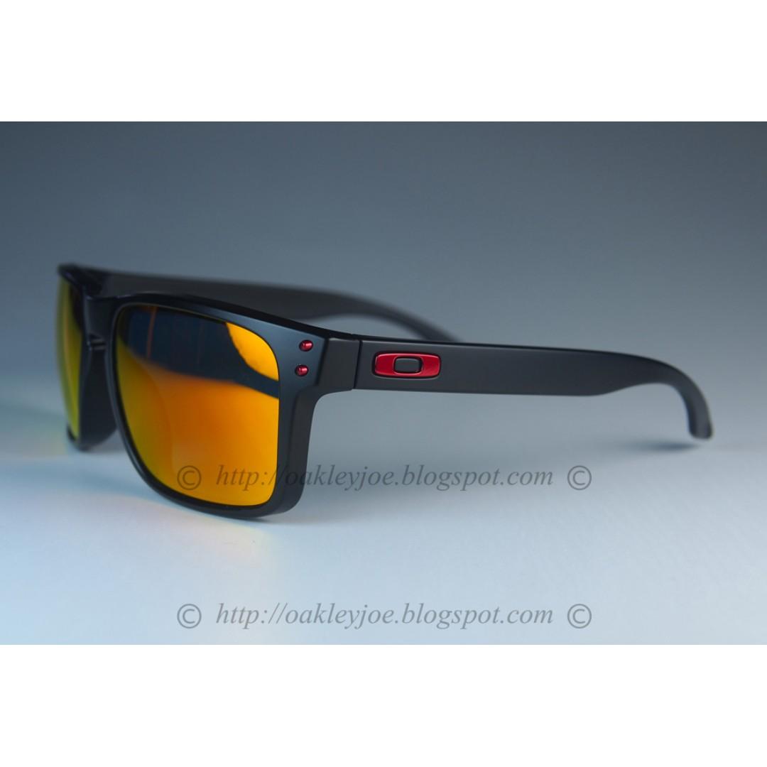 8ff72d241a9 BNIB Oakley Holbrook Asian Fit Custom matte black + ruby iridium ...