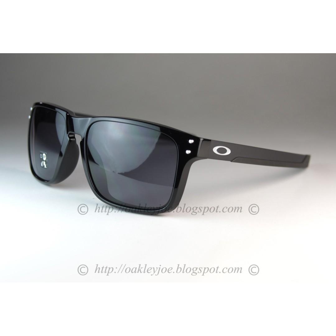 570dfba1af7 BNIB Oakley Holbrook Mix Asian Fit polished black + grey OO9385-0157 ...
